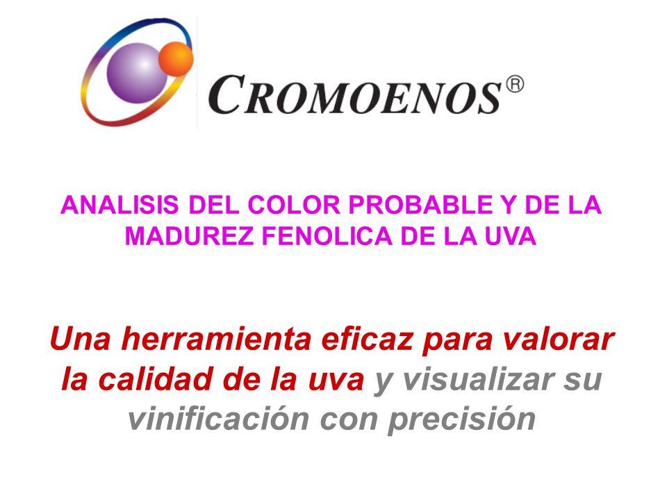 ANALISIS DEL COLOR PROBABLE Y DE LA MADUREZ FENOLICA DE LA UVA Una herramienta eficaz para valorar la calidad de la uva y visualizar su vinificación c