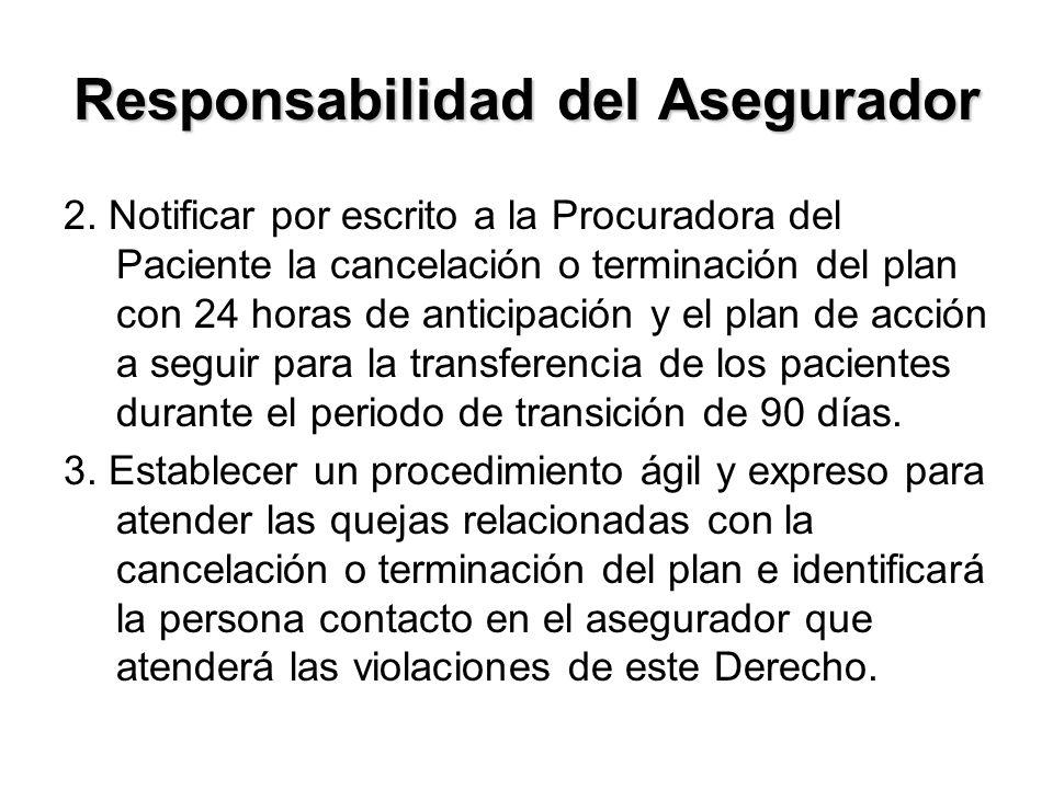 Responsabilidad del Asegurador 2.