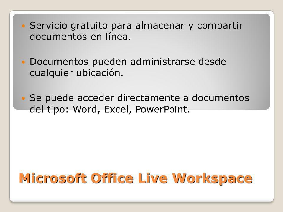 Servicio gratuito para almacenar y compartir documentos en línea. Documentos pueden administrarse desde cualquier ubicación. Se puede acceder directam