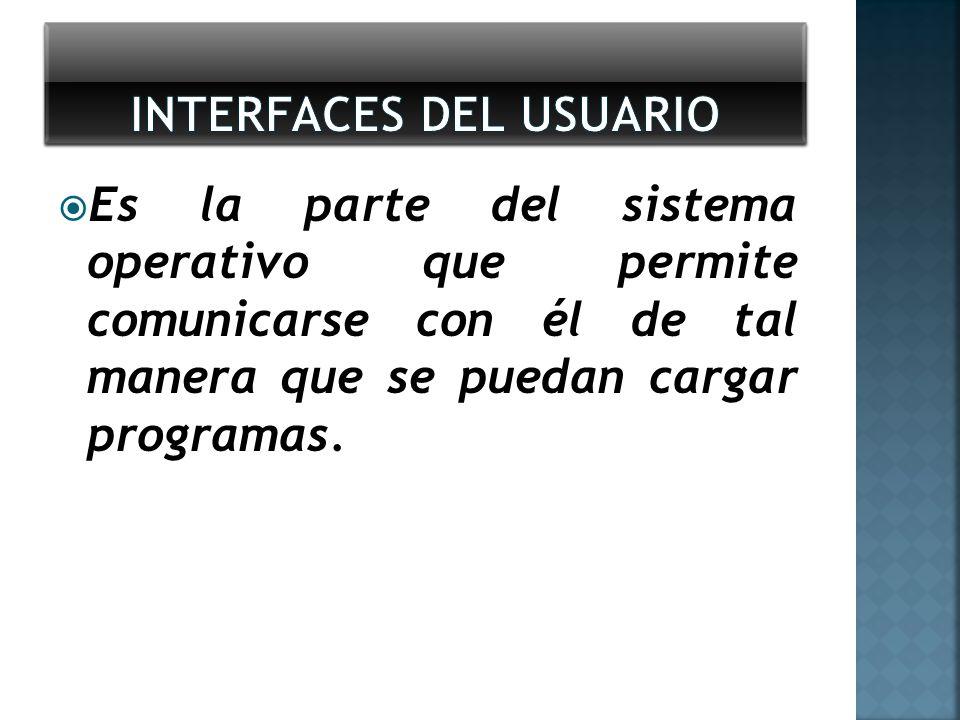 Es la parte del sistema operativo que permite comunicarse con él de tal manera que se puedan cargar programas.