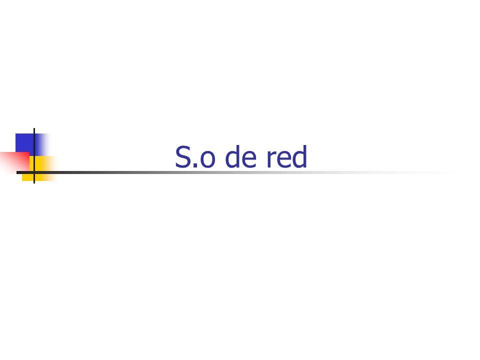 S.o de red