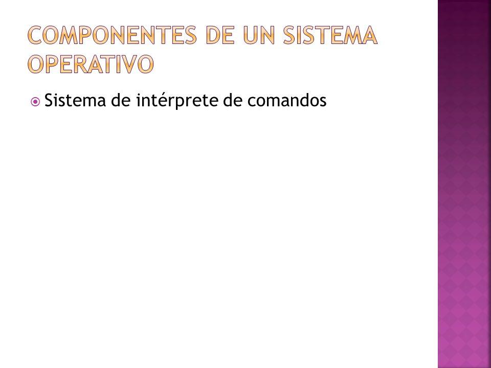 Sistema de intérprete de comandos
