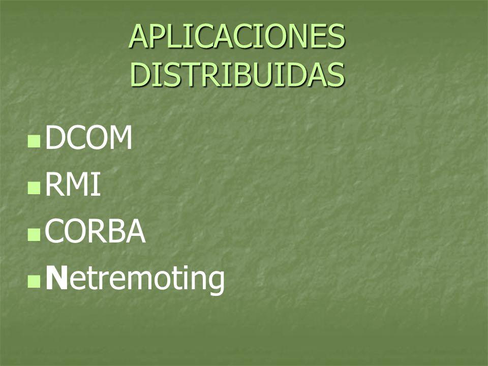 Elementos Toda aplicación RMI normalmente se descompone en 2 partes: Toda aplicación RMI normalmente se descompone en 2 partes: 1.