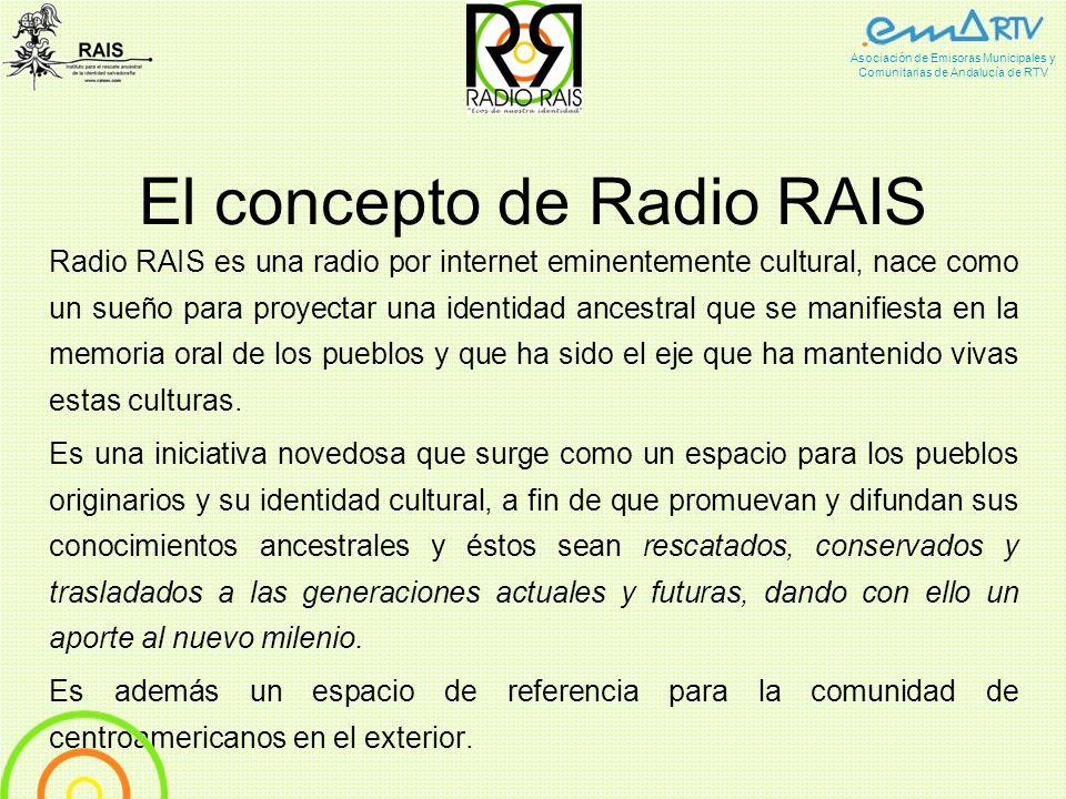El concepto de Radio RAIS Radio RAIS es una radio por internet eminentemente cultural, nace como un sueño para proyectar una identidad ancestral que s