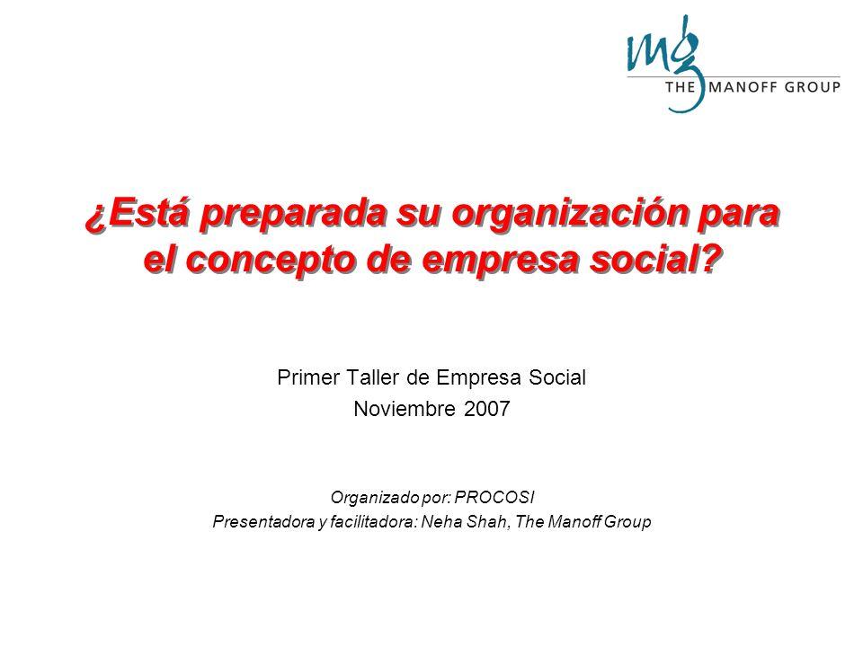 ¿Está preparada su organización para el concepto de empresa social.