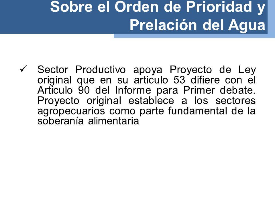 Sobre el Aprovechamiento del Agua por el Sector Privado- Minería Artículo 104.