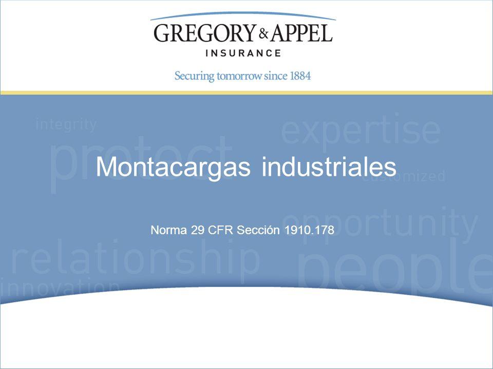 Norma 29 CFR Sección 1910.178 Montacargas industriales