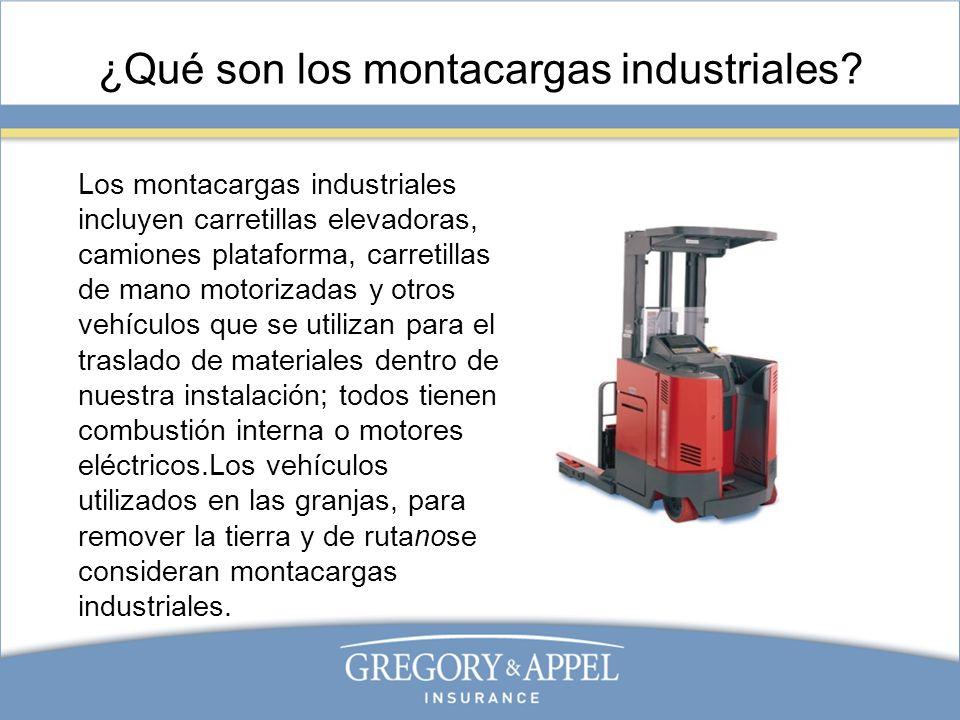 ¿Qué son los montacargas industriales? Los montacargas industriales incluyen carretillas elevadoras, camiones plataforma, carretillas de mano motoriza