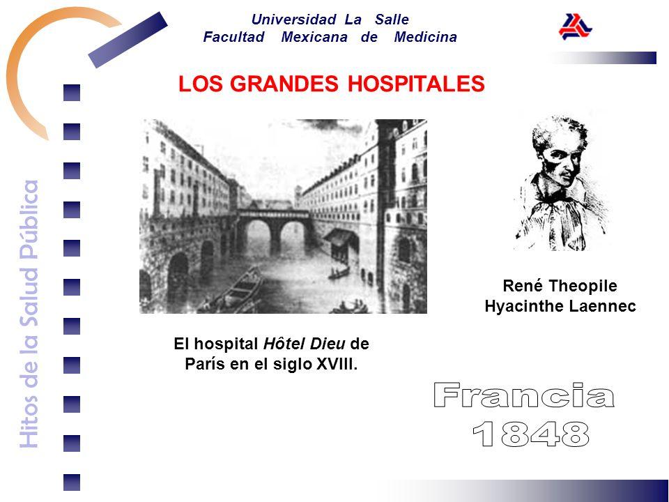 Hitos de la Salud Pública Universidad La Salle Facultad Mexicana de Medicina El hospital Hôtel Dieu de París en el siglo XVIII. LOS GRANDES HOSPITALES