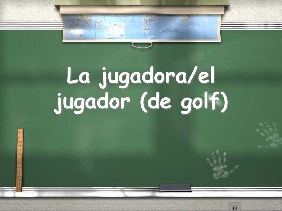 La jugadora/el jugador (de golf)