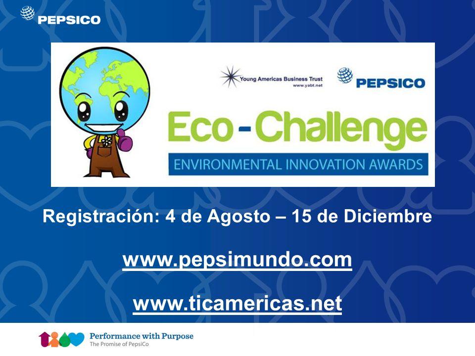 Document Title Goes Here10 Registración: 4 de Agosto – 15 de Diciembre www.pepsimundo.com www.ticamericas.net