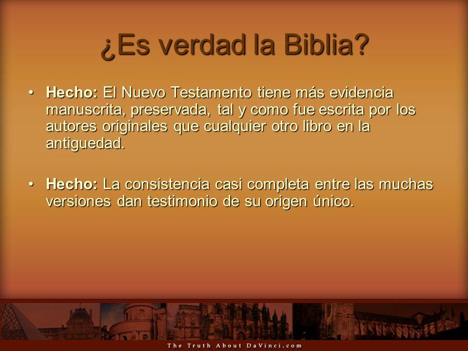 ¿Es verdad la Biblia? Hecho: El Nuevo Testamento tiene más evidencia manuscrita, preservada, tal y como fue escrita por los autores originales que cua