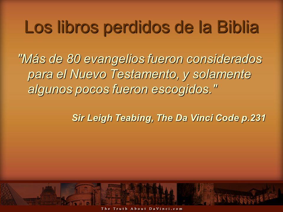 Los libros perdidos de la Biblia