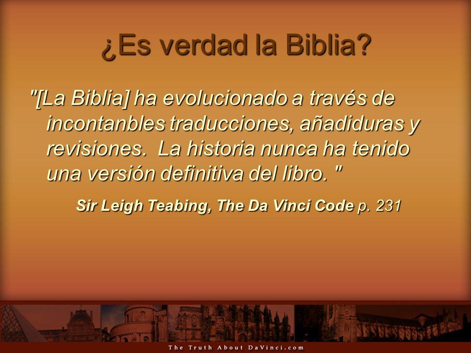 ¿Es verdad la Biblia?