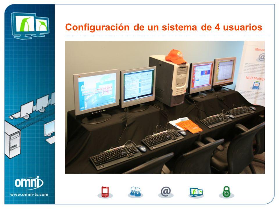 Configuración de un sistema de 4 usuarios
