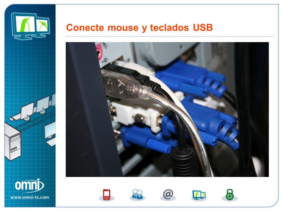Conecte mouse y teclados USB