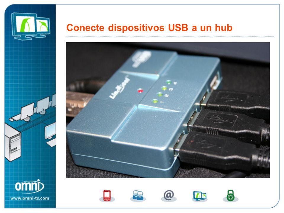 Conecte dispositivos USB a un hub Conecte dispositivos USB a un hub potenciado