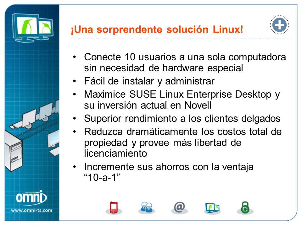 ¡Una sorprendente solución Linux! Conecte 10 usuarios a una sola computadora sin necesidad de hardware especial Fácil de instalar y administrar Maximi