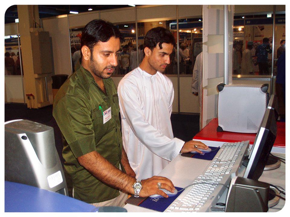 Linux Desktop Multiplier en exposición de tecnología en Dubai