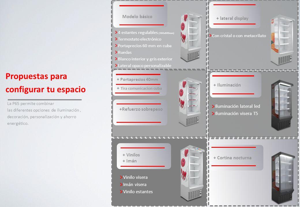 ESPACIO FRÍO DONDE, COMO Y CUANDO QUIERAS Temperatura perfecta para asegurar la calidad de tu producto (M1) Donde quieras, fácil y rápidamente Como quieras: Tu logo, tu imagen, tu mensaje