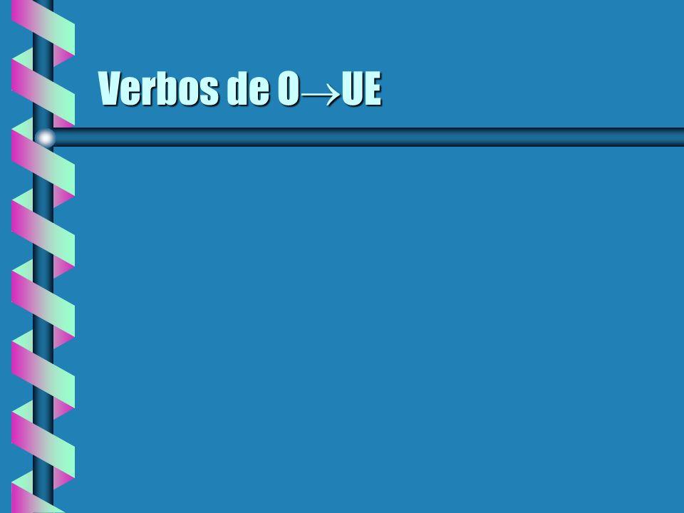 Verbos de E I 1.Nuestro clase ___ ayuda con los verbos irregulares.