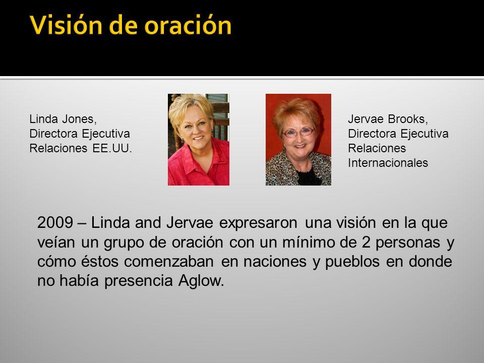 Linda Jones, Directora Ejecutiva Relaciones EE.UU. Jervae Brooks, Directora Ejecutiva Relaciones Internacionales 2009 – Linda and Jervae expresaron un