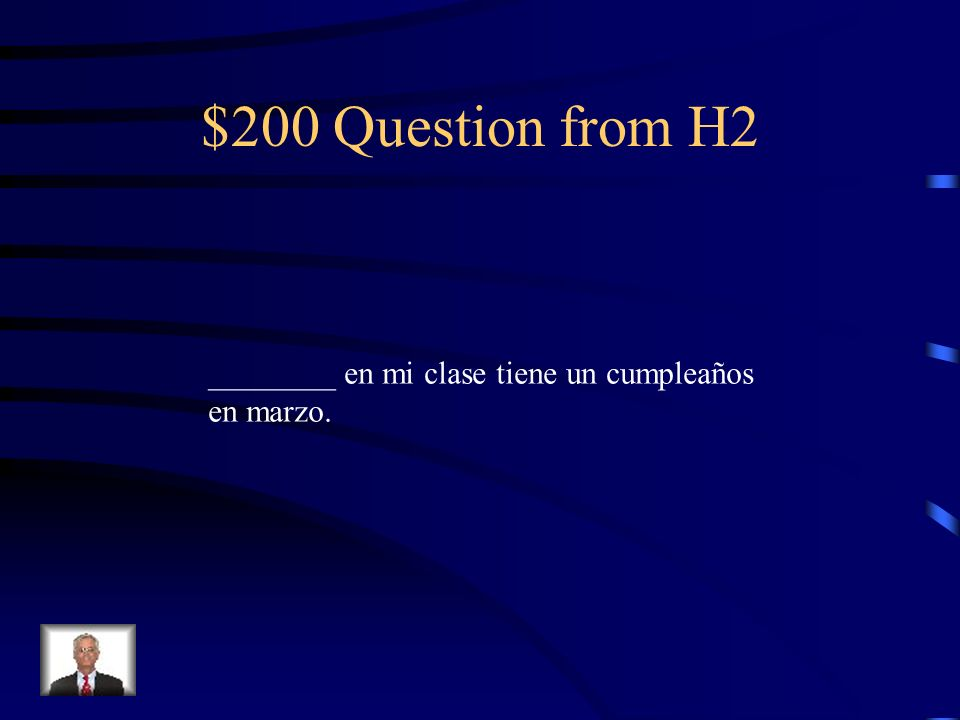 $100 Answer from H2 nada