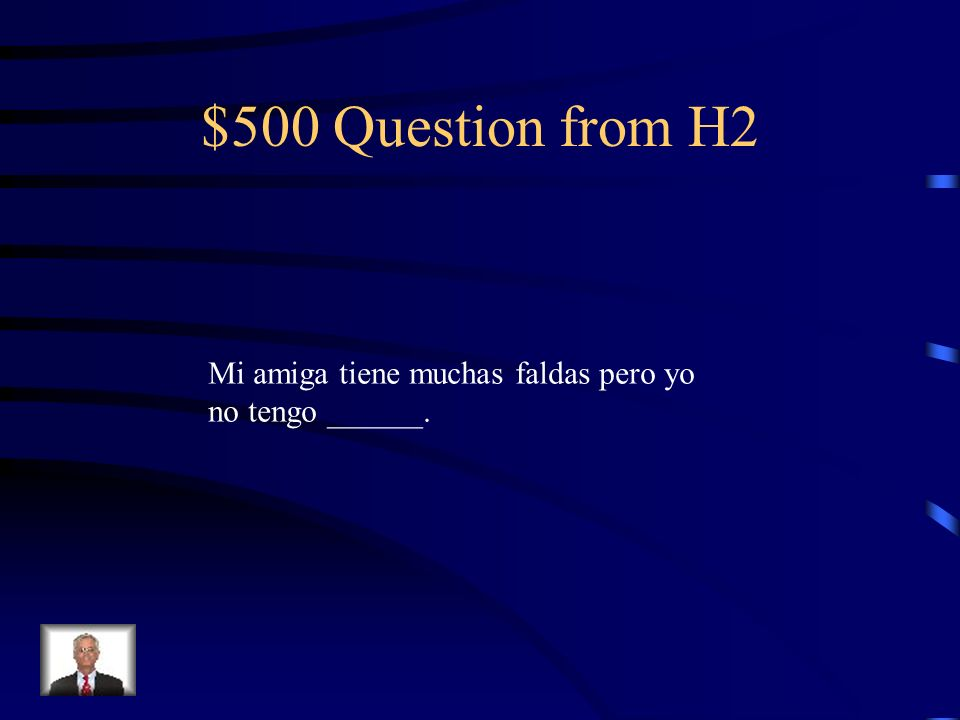 $400 Answer from H2 ningún