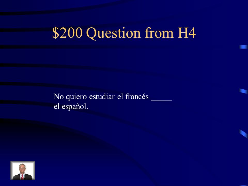 $100 Answer from H4 pero