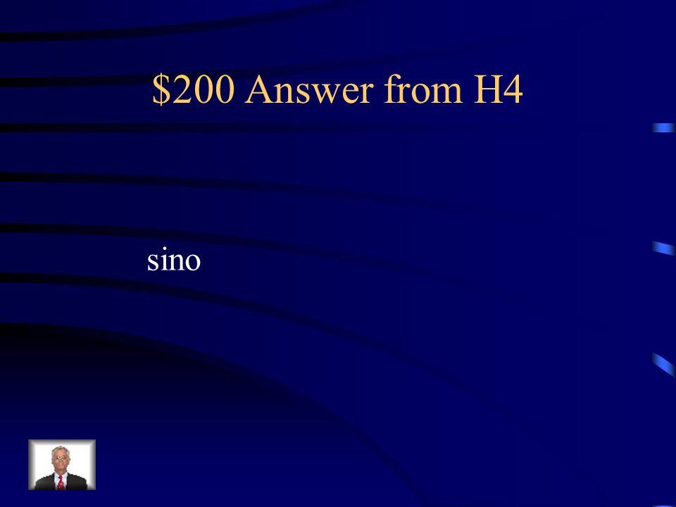 $200 Question from H4 No quiero estudiar el francés _____ el español.
