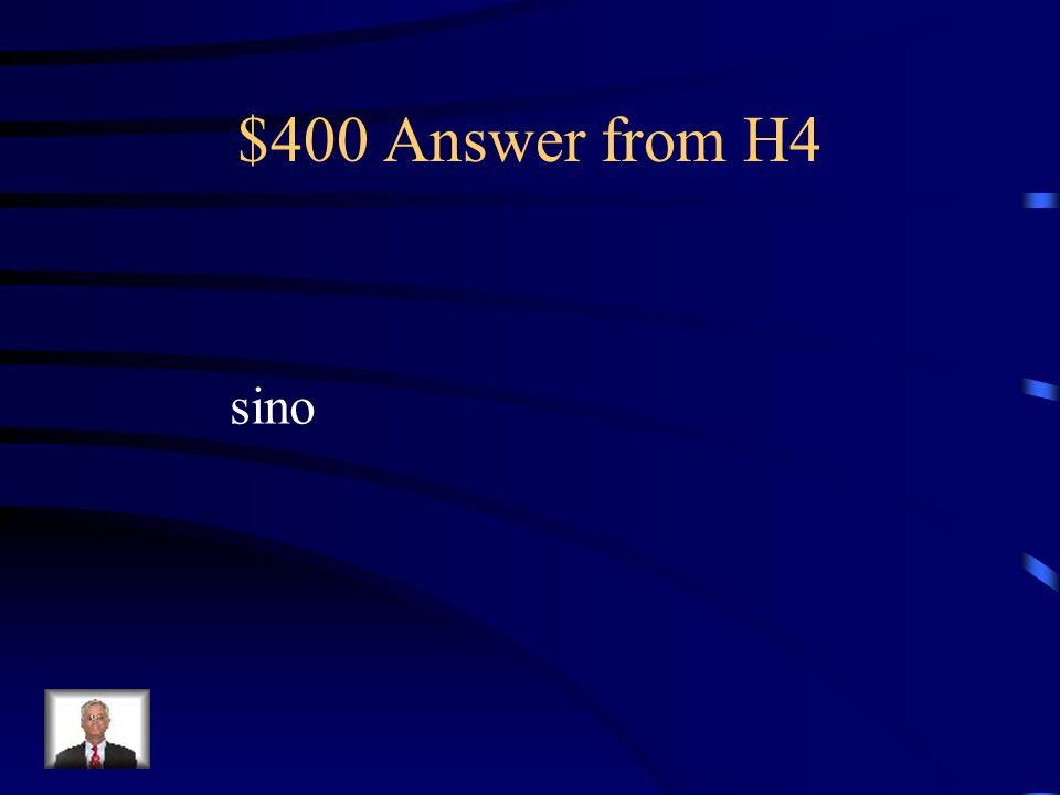 $400 Question from H4 La capital de Illinois no es Chicago _______ Springfield.