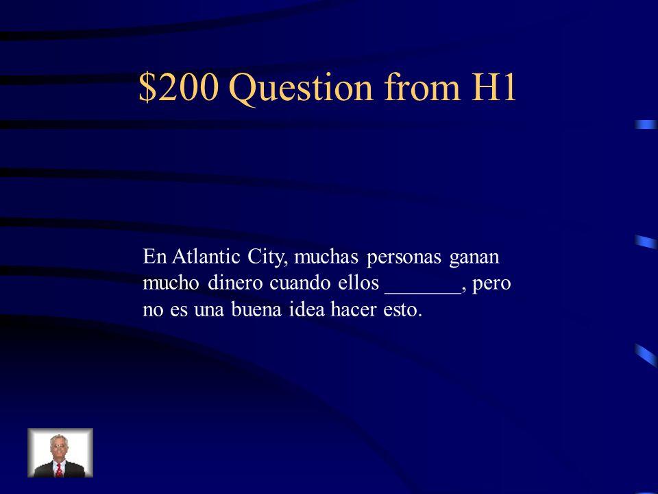 $200 Question from H3 ¿Cuánto tiempo hace que Señora Olsen enseña español? (12 años)