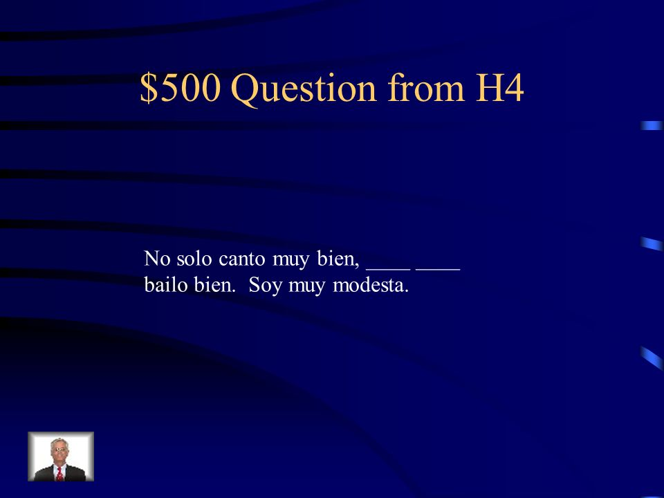 $400 Answer from H4 sino