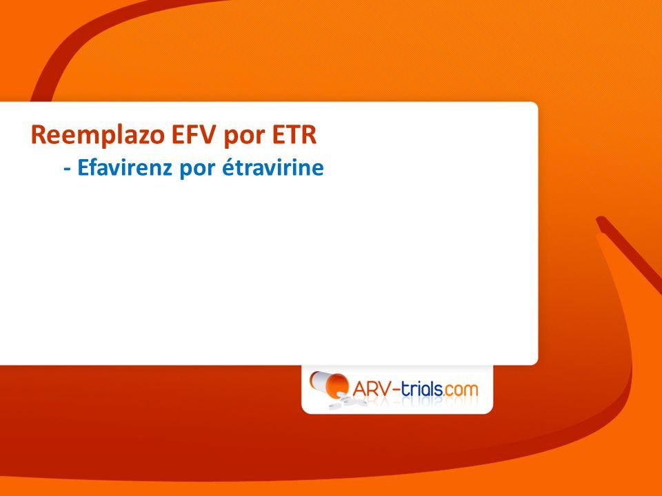 Reemplazo EFV por ETR - Efavirenz por étravirine