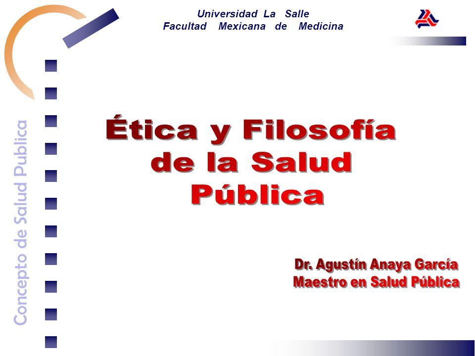 Concepto de Salud Publica Universidad La Salle Facultad Mexicana de Medicina
