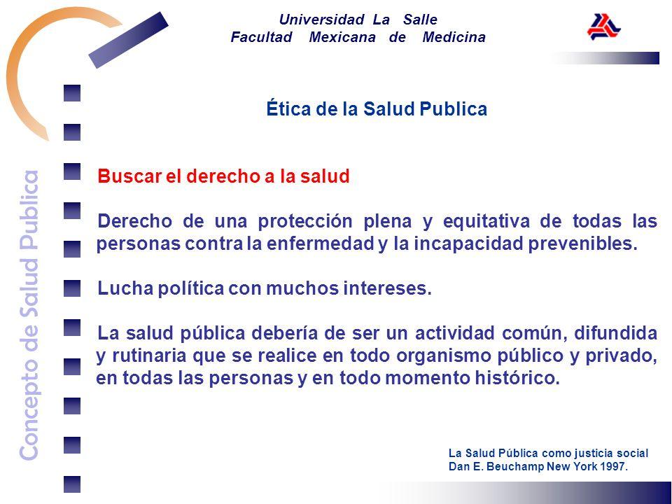 Concepto de Salud Publica Universidad La Salle Facultad Mexicana de Medicina Ética de la Salud Publica Buscar el derecho a la salud Derecho de una pro