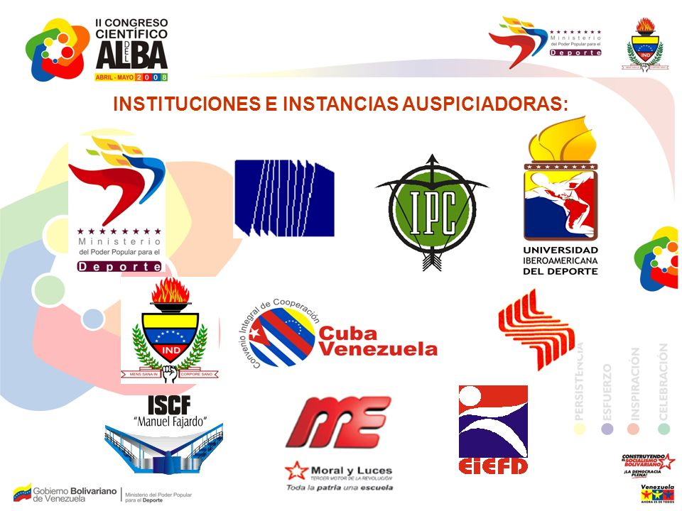 INSTITUCIONES E INSTANCIAS AUSPICIADORAS: