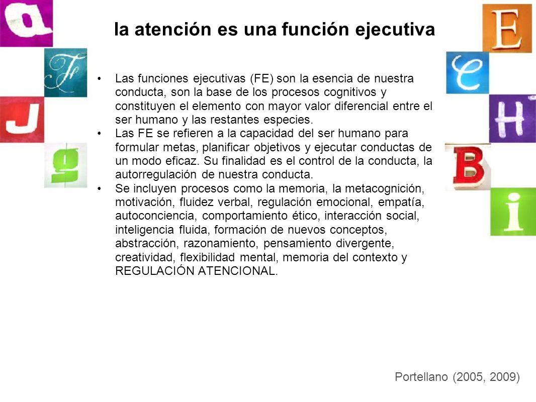 la atención es una función ejecutiva Las funciones ejecutivas (FE) son la esencia de nuestra conducta, son la base de los procesos cognitivos y consti