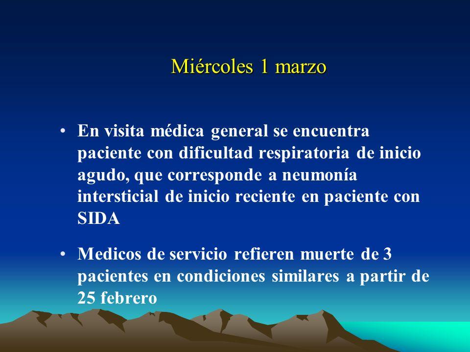 Influenza A DESCRIPCION NARRATIVA DEL BROTE EPIDEMICO EN HOSPITAL ROOSEVELT MARZO 2006.
