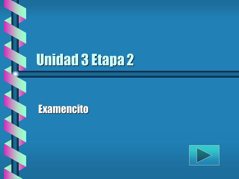 Unidad 3 Etapa 2 Examencito