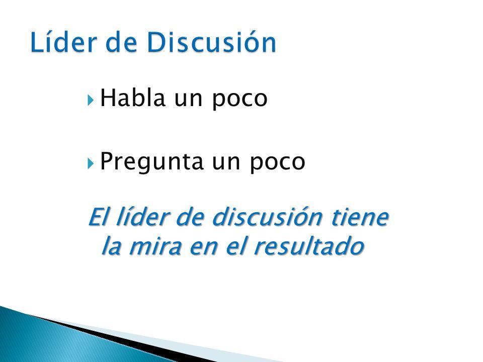 1.Determine el ritmo de su programación. 2. Desarrolle preguntas para estimular la discusión.