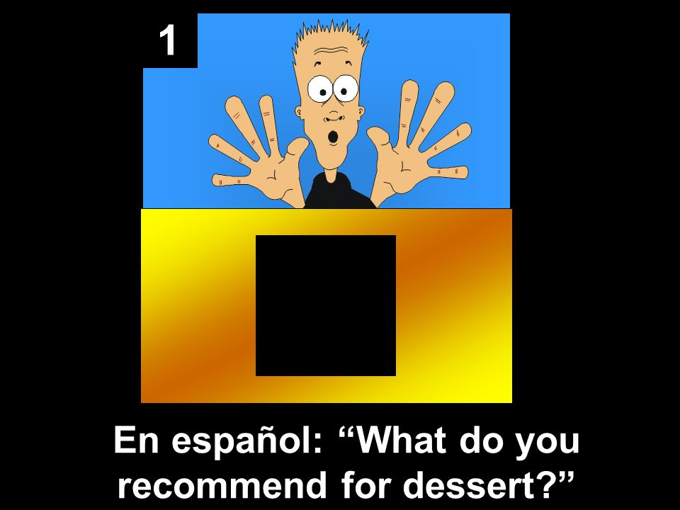 1 En español: What do you recommend for dessert