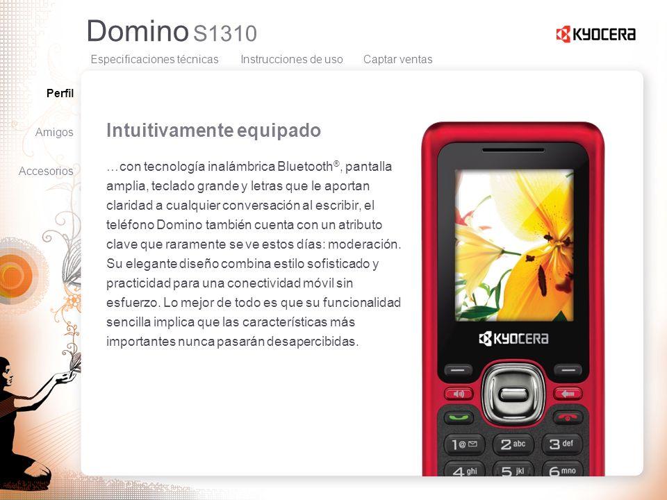 Domino S1310 Intuitivamente equipado …con tecnología inalámbrica Bluetooth ®, pantalla amplia, teclado grande y letras que le aportan claridad a cualq