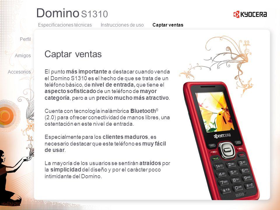 Domino S1310 Captar ventas El punto más importante a destacar cuando venda el Domino S1310 es el hecho de que se trata de un teléfono básico, de nivel