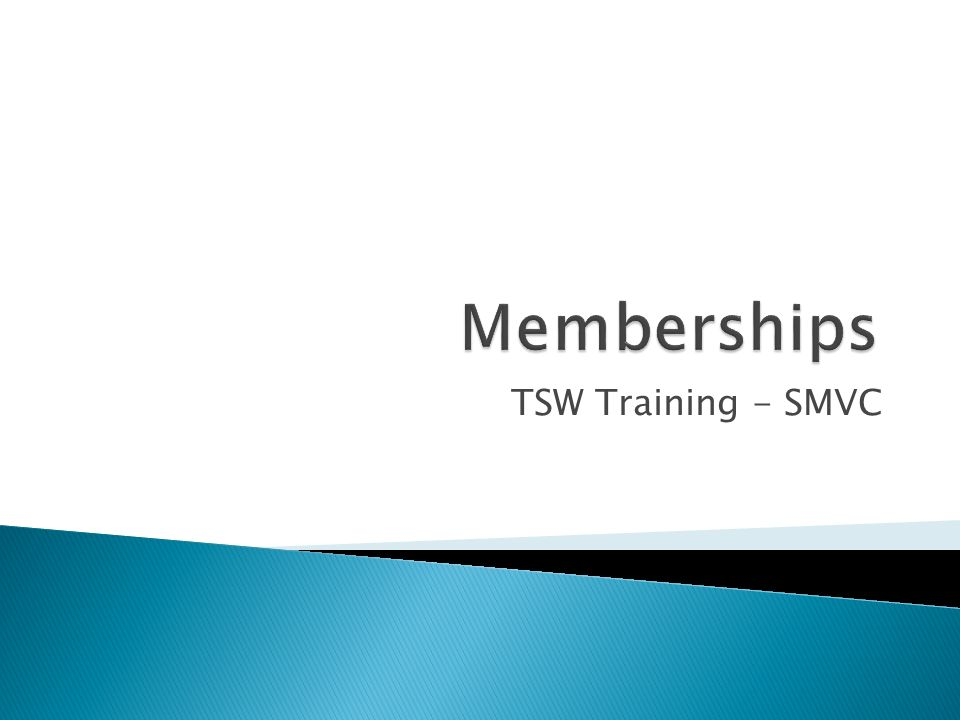 TSW Training - SMVC