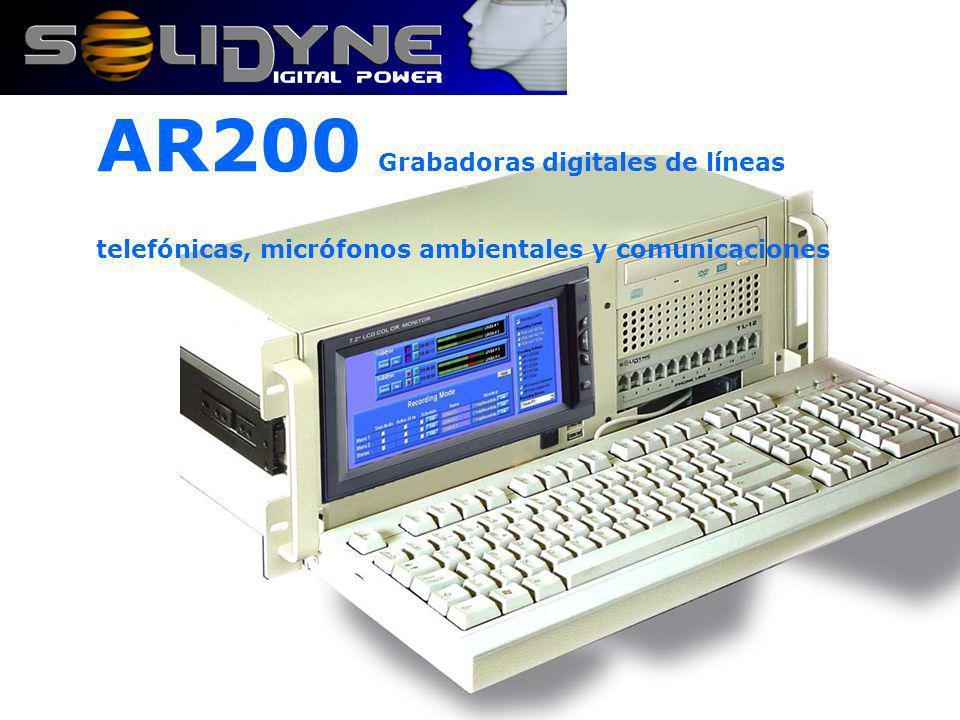 El sofware de grabación indica los niveles de trabajo en un VUmetro y se personaliza en segundos También se introduce en esta etapa el código de encriptado de hasta 64 caracteres.