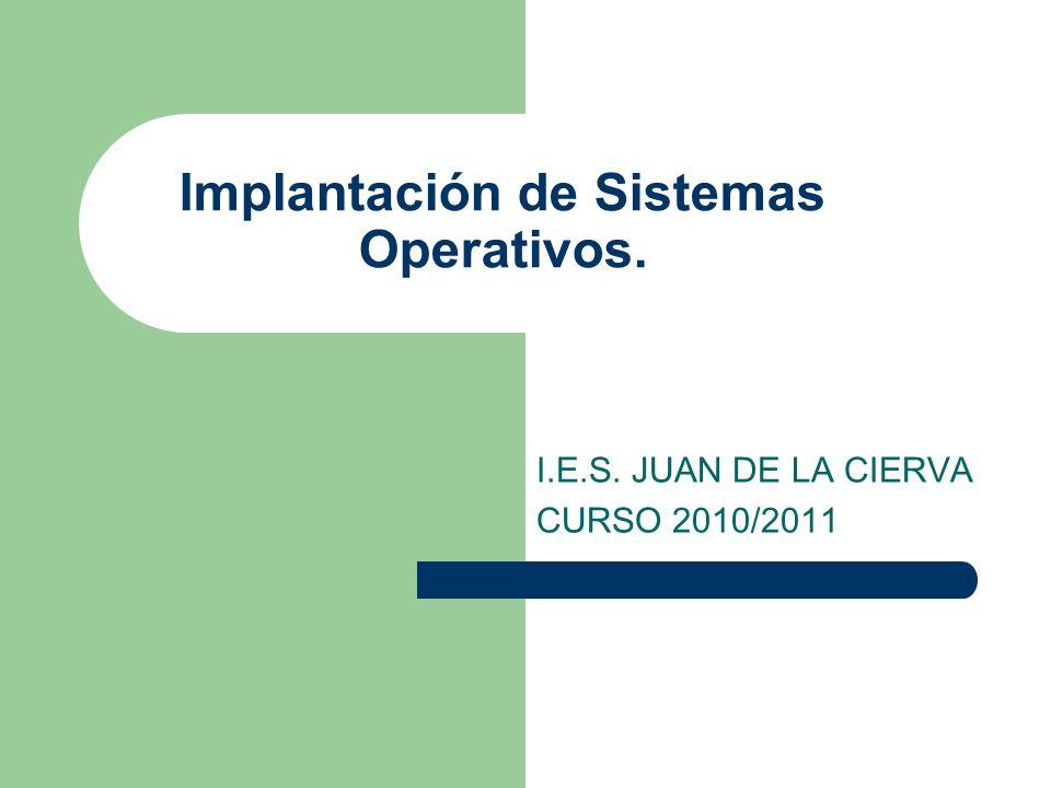 www.iesjuandelacierva.com TEMA 1: Introducción a los Sistemas Operativos 1.- Estructura de un Sistema Informático.