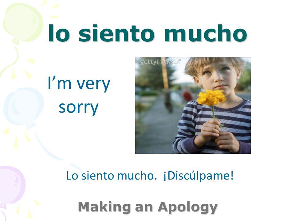 es que no sabía Making an Apology (It is that) I didnt know Lo siento mucho, es que no sabía.