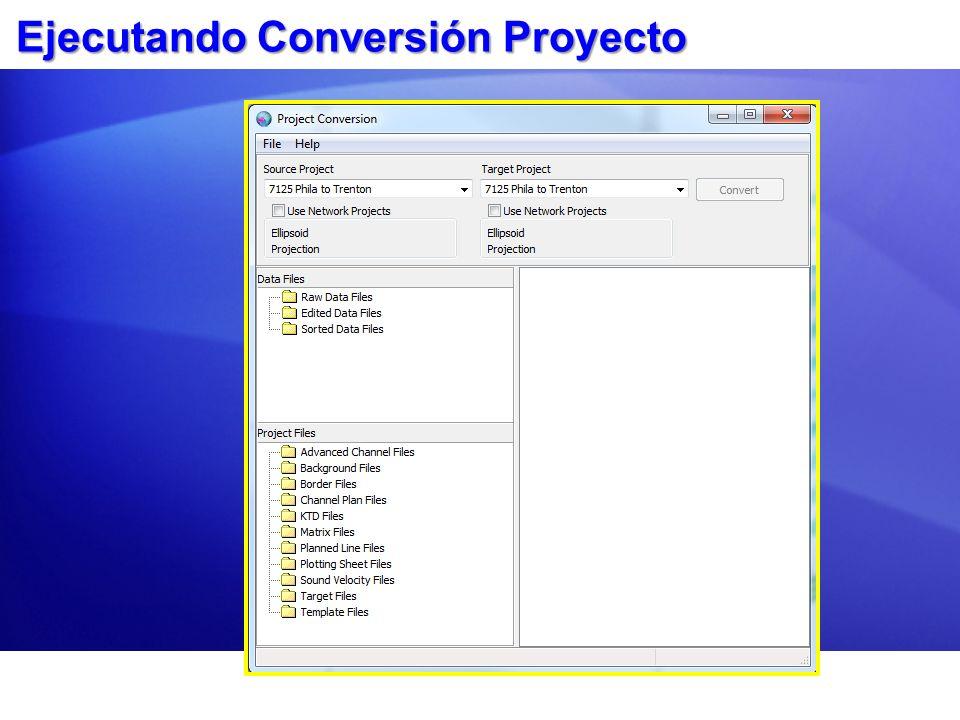 Ejecutando Conversión Proyecto