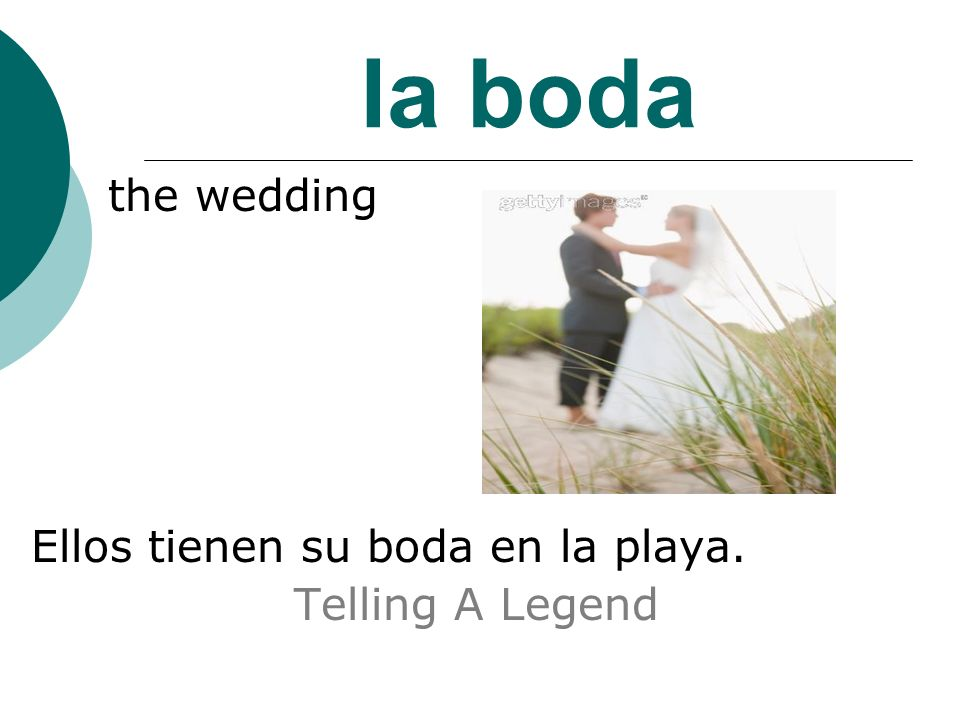la boda the wedding Ellos tienen su boda en la playa. Telling A Legend